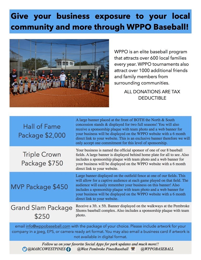 Triple Crown Sponsorship Package
